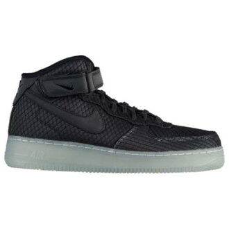 (order) Nike men air force 1 mid LV8 Nike Men's Air Force 1 Mid LV8 Black Black White Metallic Silver