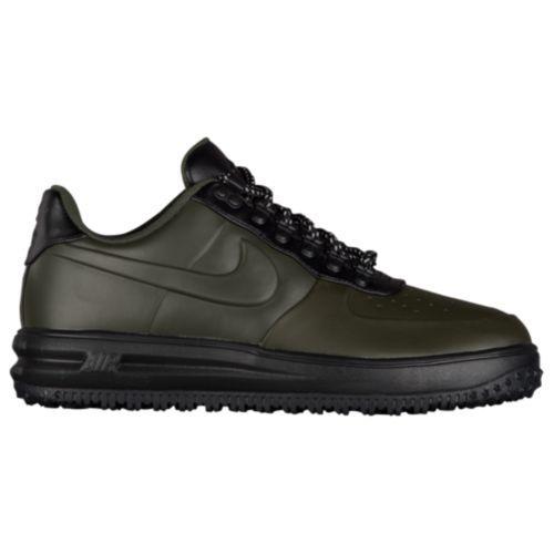 (取寄)Nike ナイキ メンズ ルナ フォース 1 ダックブーツ ロー Nike Men's Lunar Force 1 Duckboot Low Sequoia Sequoia Black