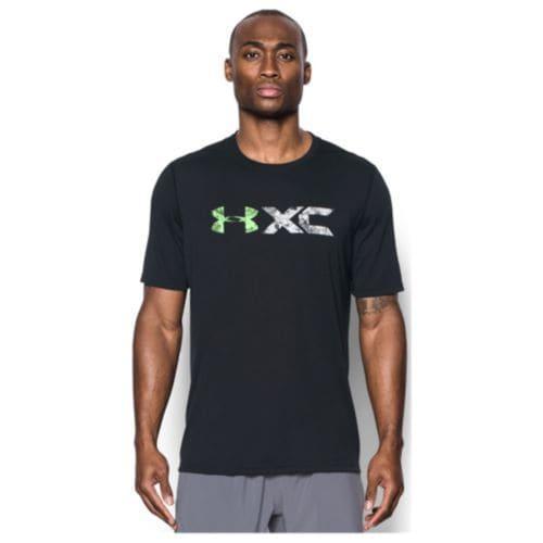 (取寄)アンダーアーマー メンズ ヒートギア テック グラフィック ショート スリーブ Tシャツ Under Armour Men's HeatGear Tech Graphic Short Sleeve T-Shirt Black Quirky Lime Reflective