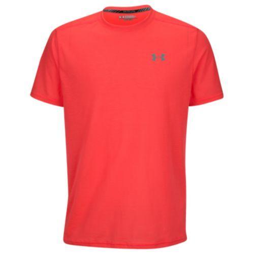 (取寄)アンダーアーマー メンズ ヒートギア ストライカー ショート スリーブ Tシャツ Under Armour Men's HeatGear Streaker Short Sleeve T-Shirt Marathon Red Marathon Red Reflective