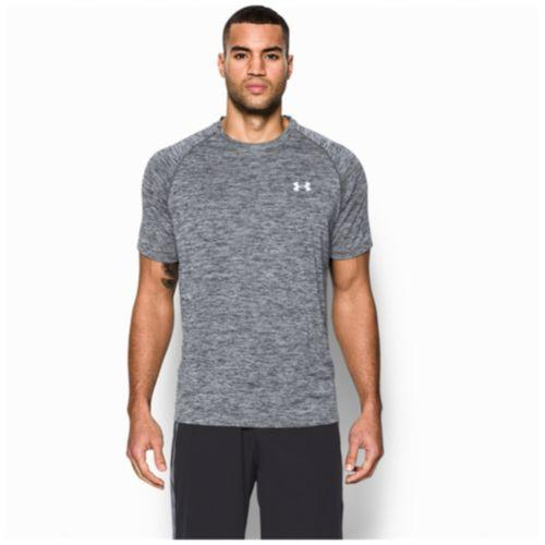 (取寄)アンダーアーマー メンズ ヒートギア テック ショート スリーブ Tシャツ Under Armour Men's HeatGear Tech Short Sleeve T-Shirt Black Heather White