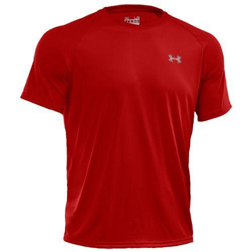 (取寄)アンダーアーマー メンズ ヒートギア テック ショート スリーブ Tシャツ Under Armour Men's HeatGear Tech Short Sleeve T-Shirt Red White
