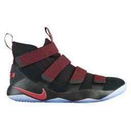 (索取)耐吉人露華濃軍人11露華濃詹姆斯Nike Mens LeBron Soldier 11 Lebron James Black Gym Red Stardust