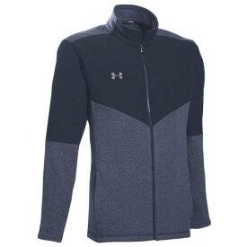 (取寄)アンダーアーマー メンズ チーム エリート フリース フルジップ ジャケット Under Armour Men's Team Elite Fleece Full-Zip Jacket Midnight Navy Steel