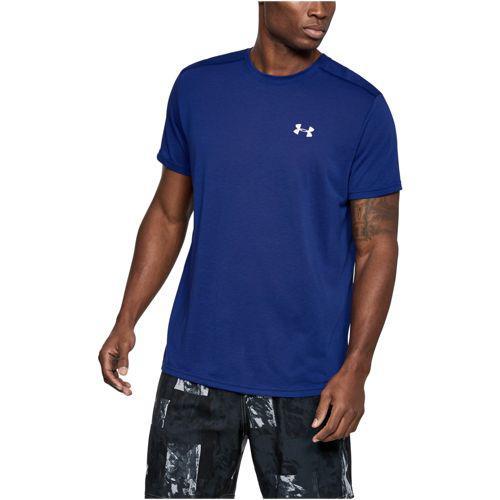 (取寄)アンダーアーマー メンズ ヒートギア ストライカー ショート スリーブ Tシャツ Under Armour Men's HeatGear Streaker Short Sleeve T-Shirt Formation Blue Formation Blue Reflective
