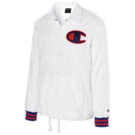 (取寄)チャンピオン メンズ サテン コーチ ジャケット Champion Men's Satin Coaches Jacket White