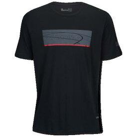(取寄)アンダーアーマー メンズ ベースライン Tシャツ Underarmour Men's Baseline T-Shirt Black Red Pitch Grey