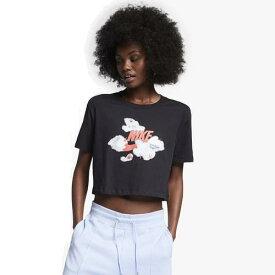 (取寄)ナイキ レディース エア マックス ロゴ クロップ Tシャツ Nike Women's Air Max Logo Crop T-Shirt Black