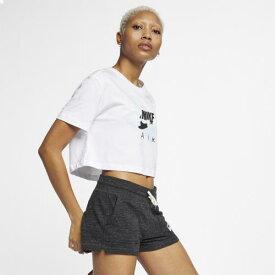 (取寄)ナイキ レディース エア マックス ロゴ クロップ Tシャツ Nike Women's Air Max Logo Crop T-Shirt White