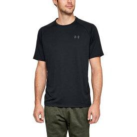 (取寄)アンダーアーマー メンズ テック 2.0 ショート スリーブ Tシャツ Underarmour Men's Tech 2.0 Short Sleeve T-Shirt Black Graphite