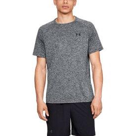 (取寄)アンダーアーマー メンズ テック 2.0 ショート スリーブ Tシャツ Underarmour Men's Tech 2.0 Short Sleeve T-Shirt Black Twist