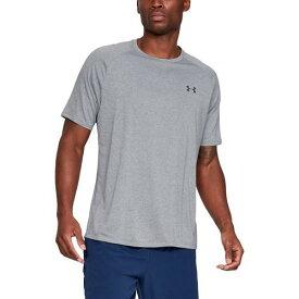 (取寄)アンダーアーマー メンズ テック 2.0 ショート スリーブ Tシャツ Underarmour Men's Tech 2.0 Short Sleeve T-Shirt Steel Light Heather Black