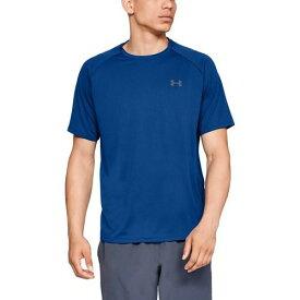 (取寄)アンダーアーマー メンズ テック 2.0 ショート スリーブ Tシャツ Underarmour Men's Tech 2.0 Short Sleeve T-Shirt Royal Graphite