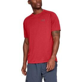 (取寄)アンダーアーマー メンズ テック 2.0 ショート スリーブ Tシャツ Underarmour Men's Tech 2.0 Short Sleeve T-Shirt Red Graphite
