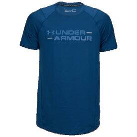 (取寄)アンダーアーマー メンズ MK1 ワードマーク Tシャツ Underarmour Men's MK1 Wordmark T-Shirt Petrol Blue Thunder