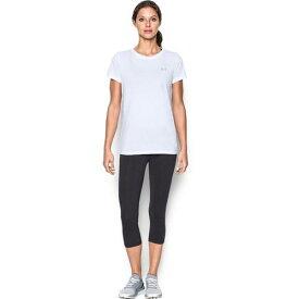 【クーポンで最大2000円OFF】(取寄)アンダーアーマー レディース テック ショート スリーブ Tシャツ Underarmour Women's Tech Short Sleeve T-Shirt White
