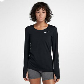 (取寄)ナイキ レディース プロ メッシュ ロング スリーブ トップ Nike Women's Pro Mesh Long Sleeve Top Black White
