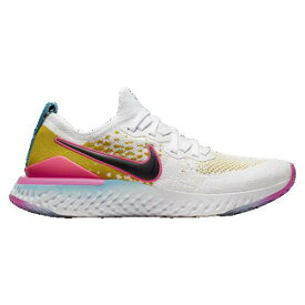 (取寄)ナイキ メンズ エピック リアクト フライニット 2 Nike Men's Epic React Flyknit 2 White Black Pink Blast