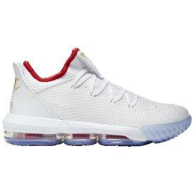 (取寄)ナイキ メンズ レブロン 16 ロー Nike Men's LeBron 16 Low White Black University Red Metallic Gold