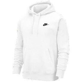 (取寄)ナイキ メンズ パーカー クラブ プルオーバー フーディ Nike Men's Club Pullover Hoodie White Black