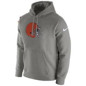 (取寄)ナイキ メンズ パーカー NFL プルオーバー フリース クラブ フーディ クリーブランド ブラウンズ Nike Men's NFL Pullover Fleece Club Hoodie クリーブランド ブラウンズ Dark Grey Heather