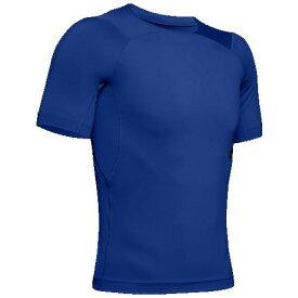 (取寄)アンダーアーマー メンズ ラッシュ コンプレッション Tシャツ Underarmour Men's Rush Compression T-Shirt Royal Black