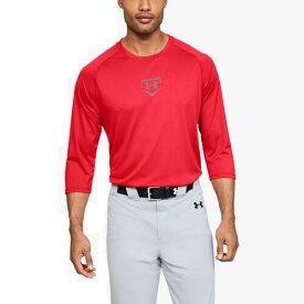 (取寄)アンダーアーマー メンズ ユーテリティ 3/4 シャツ Underarmour Men's Utility 3/4 Shirt Red Steel