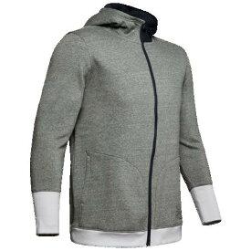 (取寄)アンダーアーマー メンズ ベースライン フリース F/Z フーディ Underarmour Men's Baseline Fleece F/Z Hoodie Mod Grey Black Red