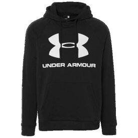 (取寄)アンダーアーマー メンズ ライバル スポーツスタイル プルオーバー フーディ Underarmour Men's Rival Sportstyle Pullover Hoodie Black White