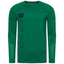 (取寄)アンダーアーマー メンズ カレッジ トレーニング ロングスリーブ Tシャツ ノートル ダム ファイティング アイリッシュ Underarmour Men's College Training L/S T-Shirt ノートル ダム ファイティング アイリッシュ Green
