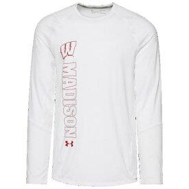(取寄)アンダーアーマー メンズ カレッジ トレーニング ロングスリーブ Tシャツ ウィスコンシン バッジャーズ Underarmour Men's College Training L/S T-Shirt ウィスコンシン バッジャーズ White