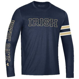 (取寄)アンダーアーマー メンズ カレッジ パフォーマンス ロングスリーブ Tシャツ ノートル ダム ファイティング アイリッシュ Underarmour Men's College Performance L/S T-Shirt ノートル ダム ファイティング アイリッシュ Navy