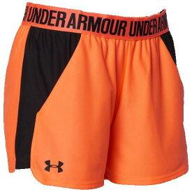 (取寄)アンダーアーマー レディース プレイ アップ ショーツ 2.0 Underarmour Women's Play Up Shorts 2.0 Peach Plasma Black