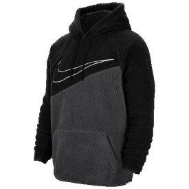 (取寄)ナイキ メンズ スウッシュ プルオーバー フーディ Nike Men's Swoosh Pullover Hoodie Black Anthracite White