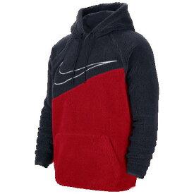 (取寄)ナイキ メンズ スウッシュ プルオーバー フーディ Nike Men's Swoosh Pullover Hoodie Obsidian University Red White