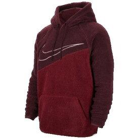 (取寄)ナイキ メンズ スウッシュ プルオーバー フーディ Nike Men's Swoosh Pullover Hoodie Night Maroon Team Red White