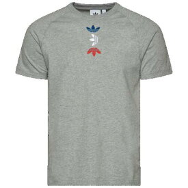 (取寄)アディダス メンズ オリジナルス スペース テック Tシャツ Men's adidas Originals Space Tech T-Shirt Medium Grey Heather Lush Blue