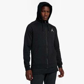(取寄)ジョーダン メンズ ジャンプマン エア フリース フルジップ フーディ Jordan Men's Jumpman Air Fleece Full-Zip Hoodie Black White