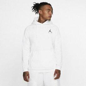 (取寄)ジョーダン メンズ ジャンプマン エア フリース プルオーバー フーディ Jordan Men's Jumpman Air Fleece Pullover Hoodie White Black