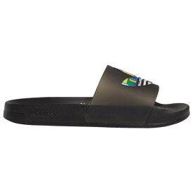 (取寄)アディダス メンズ シューズ オリジナルス アディレッタ ライト プライド Men's Shoes adidas Originals Adilette Lite Pride Black Black Black