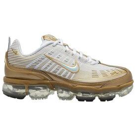 【クーポンで最大2000円OFF】(取寄)ナイキ メンズ シューズ エア ヴェイパーマックス 360 Nike Men's Shoes Air Vapormax 360 White Metallic Gold Black Reflect Silver