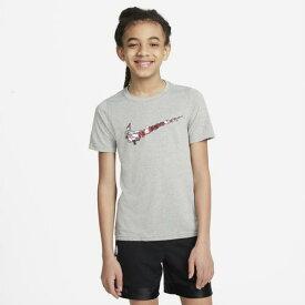 (取寄)ナイキ ボーイズ バスケットボール スウッシュ Tシャツ - ボーイズ グレード スクール Nike Boys Basketball Swoosh T-Shirt - Boys' Grade School Dark Grey Heather