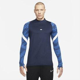 ナイキ Tシャツ メンズ 長袖 ハイネック ハーフジップ スポーツ ネイビー ブルー系 チーム ストライク ドリル 21 トップ ドライフィット Nike Men's Team Strike Drill 21 Top Obsidian Royal Blue White 送料無料