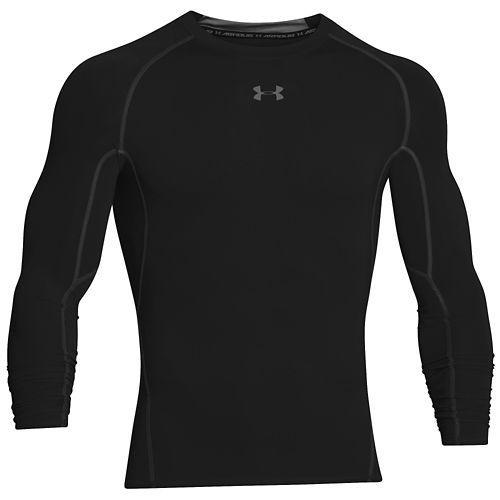 アンダーアーマー メンズ ヒートギア アーマー コンプ ロングスリーブ Tシャツ UNDER ARMOUR Men's Heatgear Armour Comp L/S T-Shirt Black Steel