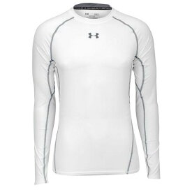 (取寄)アンダーアーマー メンズ ヒートギア アーマー コンプ ロングスリーブ Tシャツ UNDER ARMOUR Men's Heatgear Armour Comp L/S T-Shirt White Graphite 【コンビニ受取対応商品】