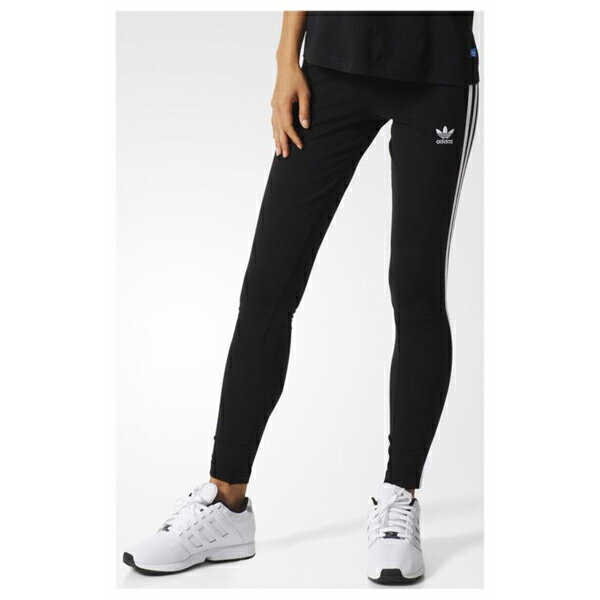 アディダス オリジナルス レディース 3ストライプス レギンス adidas ORIGINALS Women 3-STRIPES LEGGINGS Black