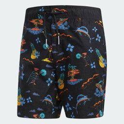 (索取)愛迪達原始物人冰島短褲adidas originals Mens Island Shorts Black/Bold Gold/Shock Green/Bright Blue