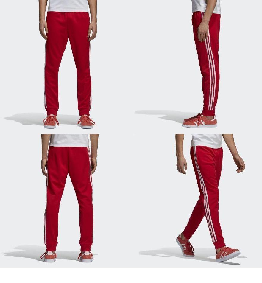 アディダス オリジナルス メンズ SST トラックパンツ レッド adidas originals Men's SST Track Pants Scarlet CW1276
