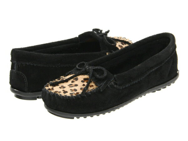 (取寄)ミネトンカ レディース レパード キルティ モック Minnetonka Women Leopard Kilty Moc Black
