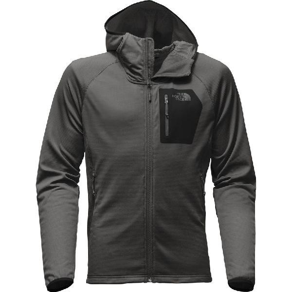(取寄)ノースフェイス メンズ ボアード フーデッド フリース ジャケット The North Face Men's Borod Hooded Fleece Jacket Asphalt Grey/Tnf Black
